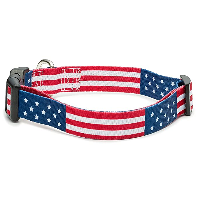 d86103415 Amazon.com : American Flag Dog Collar in 5 Different Sizes Classic (Large)  : Pet Supplies