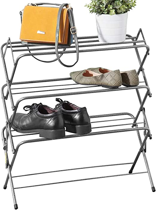 Zenree 4 Tier Folding Shoe Rack