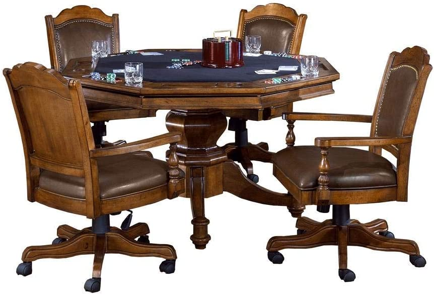 Hillsdale Furniture 13 Piece Nassau Game Set with Leather Back Game Chair