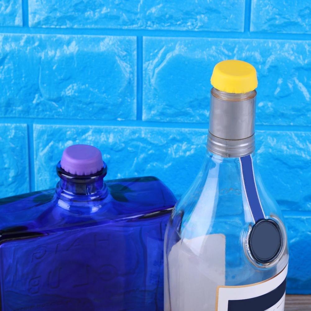 6 ST/ÜCKE K/üchenhelfer /& Werkzeuge Bunte Kreative Silikagel-Flaschenverschluss