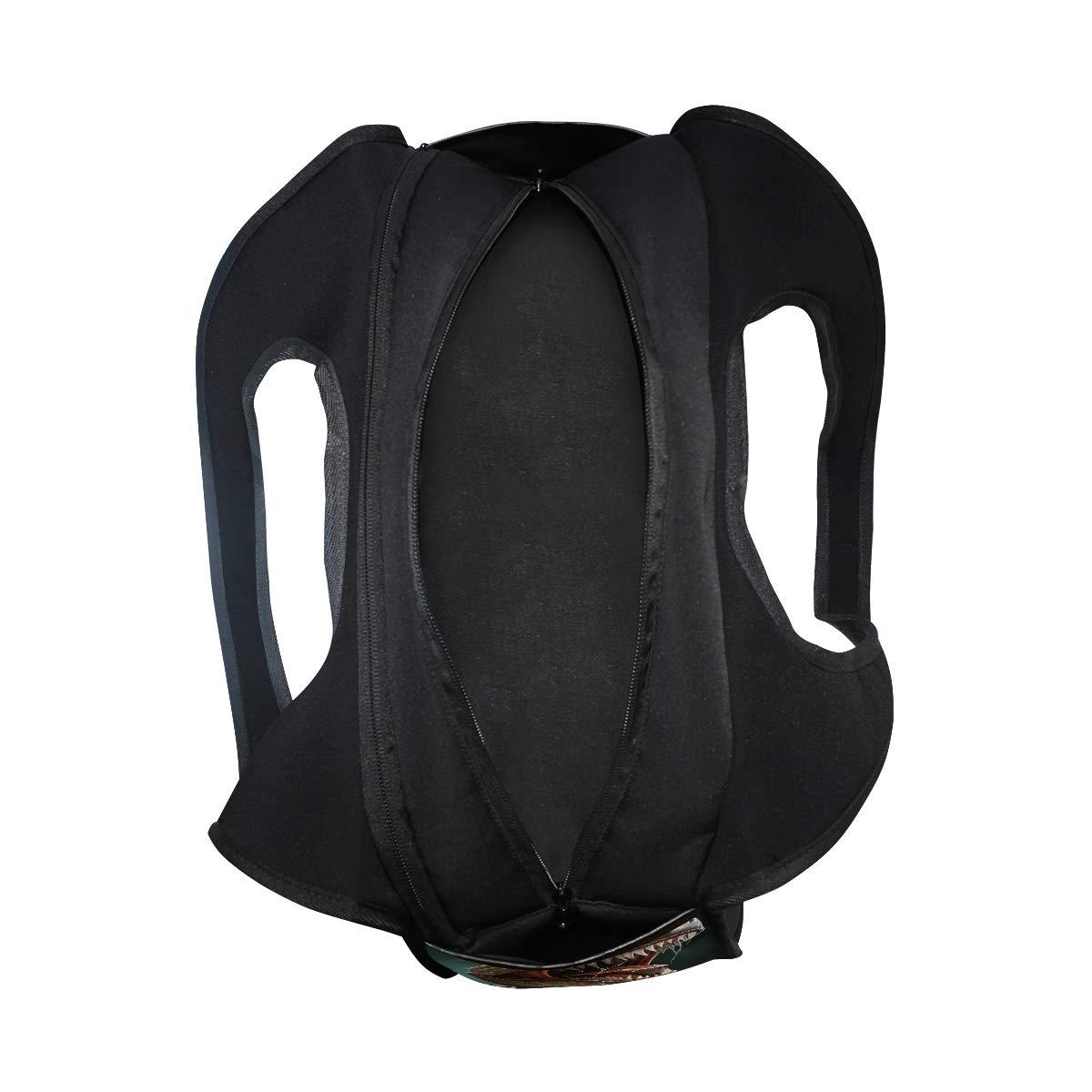 Tyrannosaurus Rex Pattern Women Sports Gym Totes Bag Multi-Function Nylon Travel Shoulder Bag