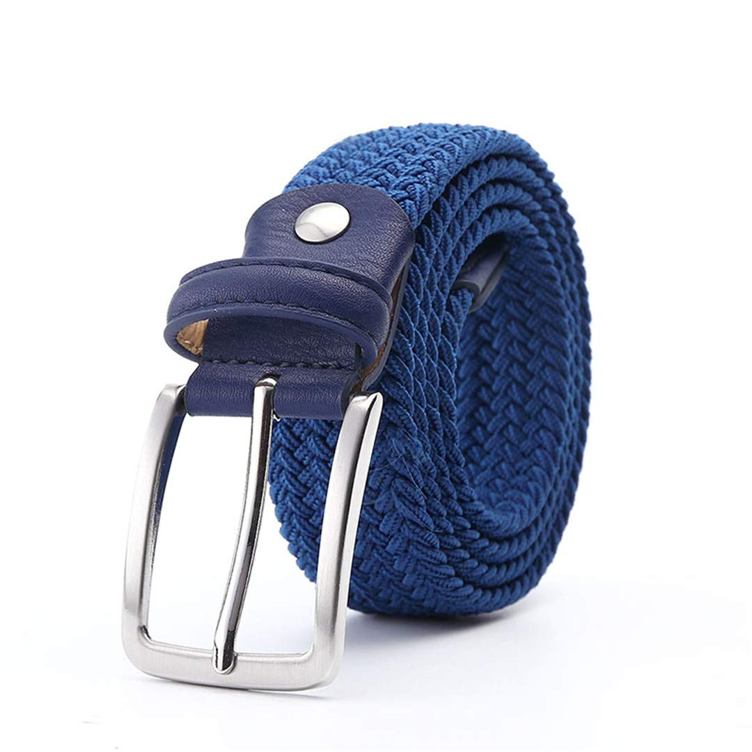 JUIHUGN Men Blue Elastic Stretch Waist Belt Canvas Stretch Braided Elastic Woven Leather Belt 1-3//8 Wide Hot Metal Stretch Belt for Men Yellow Navy 145cm