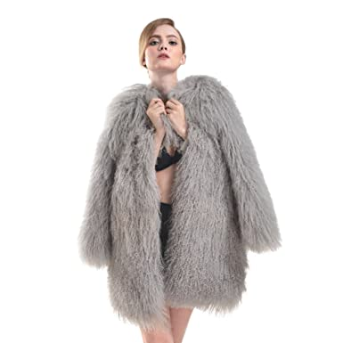 Real Mongolian Fur Wool Coats Sheep Fur Jacket Winter Fur Outwear ...