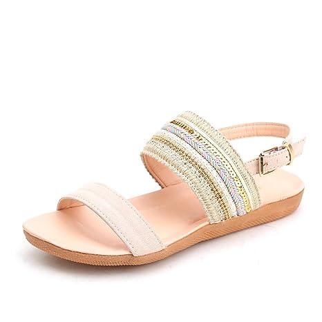 Sandalias Mujer verano ❤ Amlaiworld Sandalias Bohemia Mujer con plataforma Zapatos planos Casual del talón