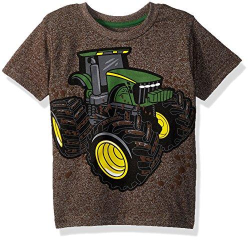 John Deere Boys' Toddler T-Shirt, Brown Heather 4T