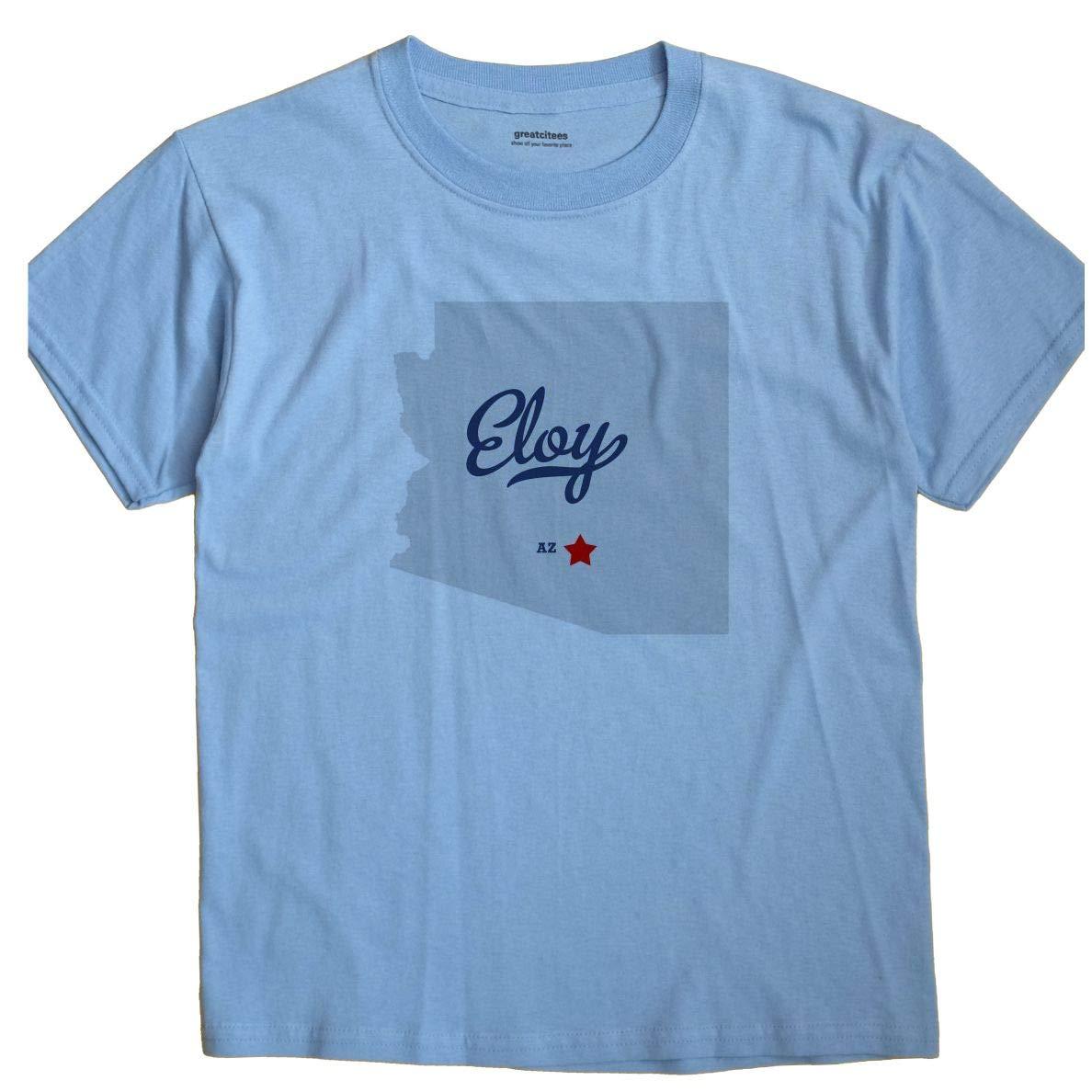 Map Of Eloy Arizona.Amazon Com Greatcitees Eloy Arizona Az Map Unisex Souvenir T Shirt