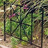Panacea British Cross Garden Edge, 20-Inch Height by 24-Inch Width, Black