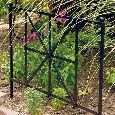 Panacea British Cross Garden Edge, 20-Inch Height by 24-Inch Width, Black by Panacea