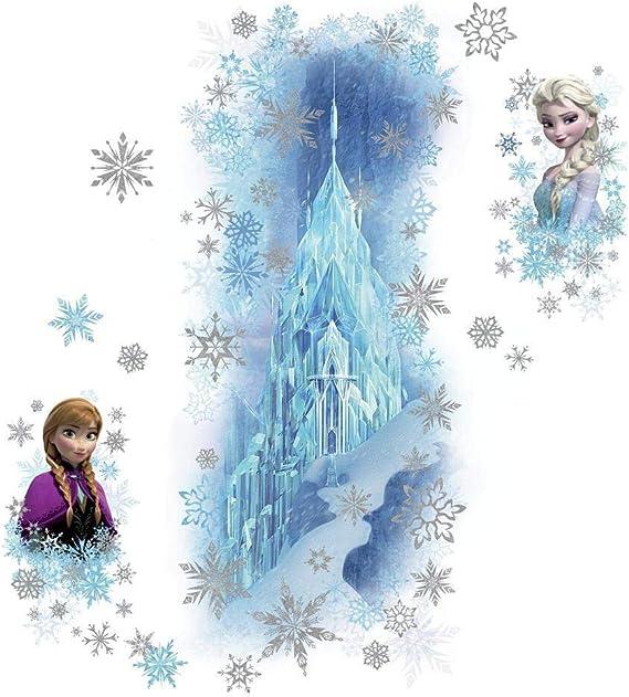 99X42CM 104 x 46 x 0,1 cm Multicolore Vinyle Thedecofactory RMK2739GM Stickers Disney Frozen Ice Palace Elsa /& Anna G/ÌANT ROOMMATES REPOSITIONNABLES
