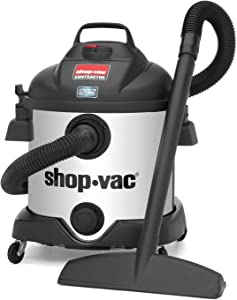 Shop-Vac 5870810 8 Gallon Stainless Steel 5.5 Peak HP SS Contractor Wet Dry Vacuum