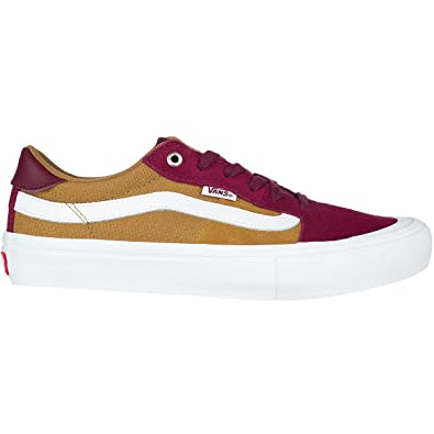 1d985904656f Vans Style 112 Pro Burgundy Medal Bronze Skateboard Shoes (8 D US)