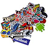 Funny Sticker Pack, Auto-Partner Waterproof Cool Vinyl Decals for Laptop, Skateboard, Luggage, Car, Bumper, Bike and Water Bottles (100 Pcs/Pack)
