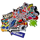 PC Hardware : Funny Sticker Pack, Auto-Partner Waterproof Cool Vinyl Decals for Laptop, Skateboard, Luggage, Car, Bumper, Bike and Water Bottles (100 Pcs/Pack)
