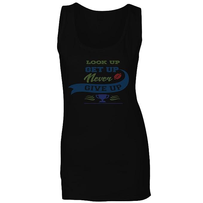 INNOGLEN Levántate Levántate Nunca Abandones El Fútbol Camiseta sin Mangas Mujer n251ft: Amazon.es: Ropa y accesorios