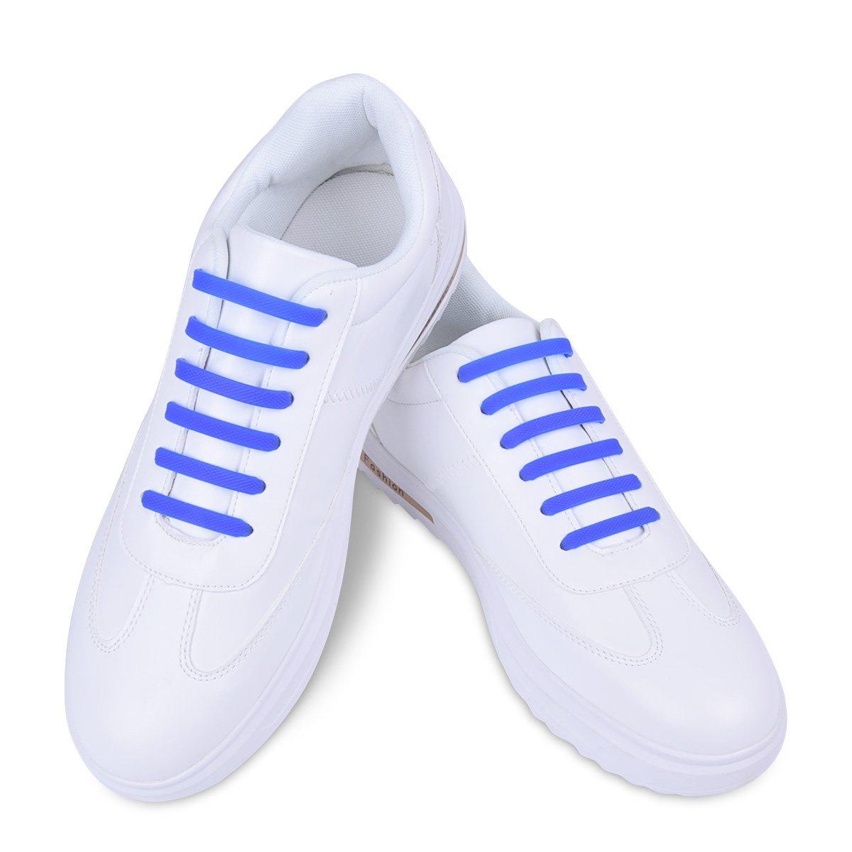 Sin Corbata Elástico Cordones de Zapatos para Adultos y niños Azul ...