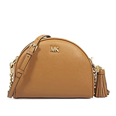 9868c82f69ae Michael Kors Medium Half Moon Leather Crossbody: Handbags: Amazon.com