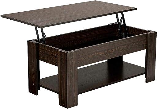 Amazon Com Yaheetech Adjustable Lift Top Coffee Table With