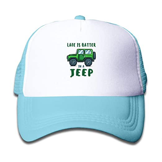 e17ab031 Image Unavailable. Image not available for. Color: Life is Better Jeep Mesh  Baseball ...