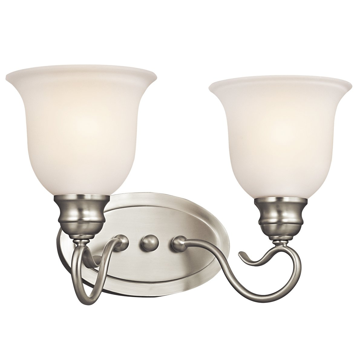 Kichler Lighting 45902NI Tanglewood 2-Light Vanity Fixture, Brushed Nickel Finish with Satin Etched Glass hot sale 2017