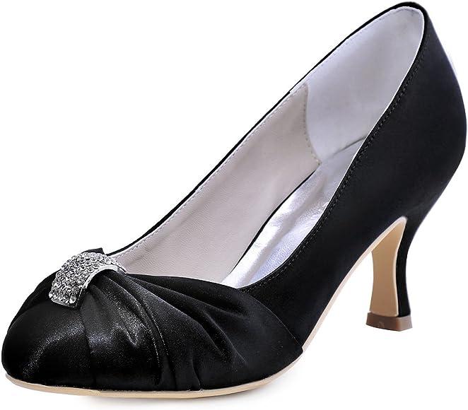 Women Mid Heel Bridal Wedding Shoes