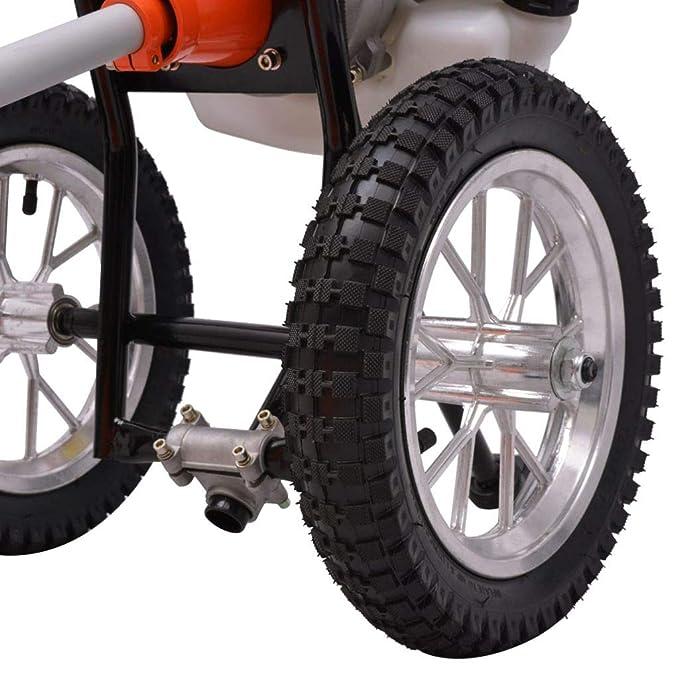 VidaXL Desbrozadora 2 Tiempos Ruedas Motor1,9 kW Desplazamiento 52 ...