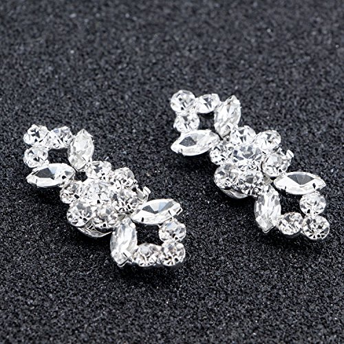 2PCS Fashion Crystal Rhinestone Shoe Clips Shoes Decoration Charms Shoe Buckle for Women Girls Party Bridal Wedding by Fodattm (Image #1)