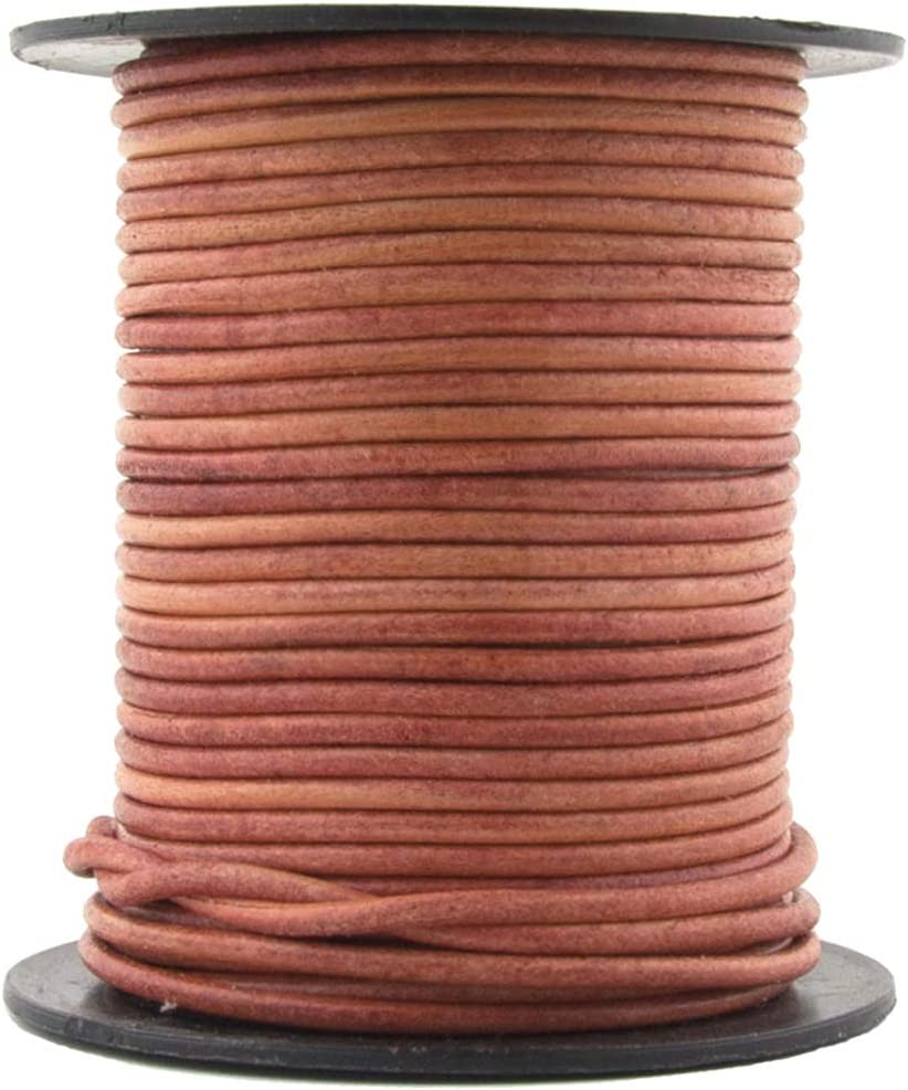 Royal Blue Natural, 25 Meter 27 Yard Xsotica-Dye Round Leather Cords -1.5mm Leather Cord