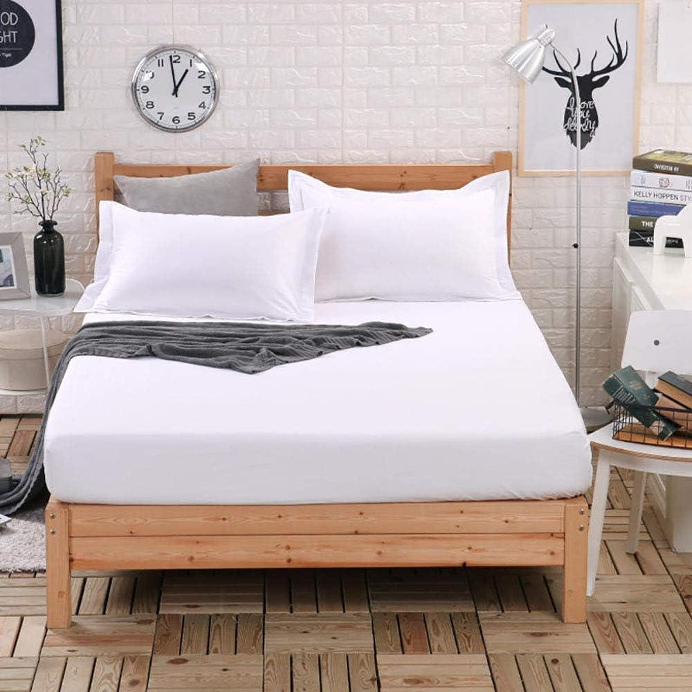 Inicio Accesorios Funda de colchón Protector de colchón Super King Size 150x190 con 4 esquinas elásticas Funda de colchón de algodón transpirable impermeable Sábana protectora Antialérgico No ruido