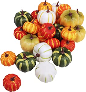28 Pcs Mini Artificial Pumpkins Table Decor Fall Wedding Fall Wreaths Fill Vases, Baskets, Or Cornucopias Autumn Table Vignettes