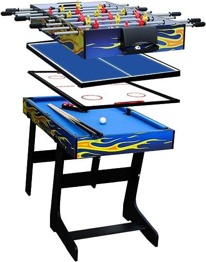 Ifoyo Table De Jeux Multifonction Pliante 4 En 1 De 120 Cm Ping