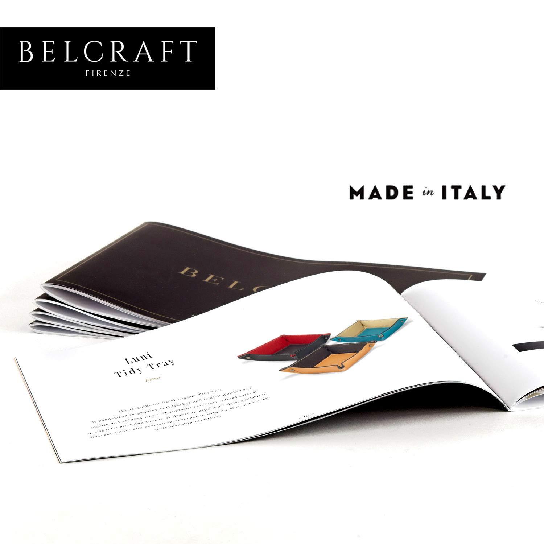 Negro Hecho a Mano Luni Vaciabolsillos de Piel Italiana 19x19 cm Incluye Caja Regalo Especial