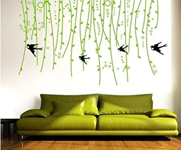 Buy Decals Design Sofa Green Vine Wall Sticker PVC Vinyl 50 cm