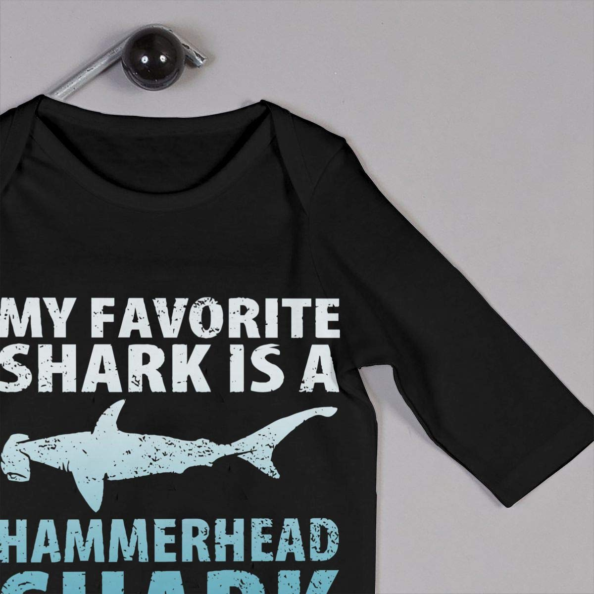 Infant Baby Boys Girls Cotton Long Sleeve My Favorite Shark is A Hammerhead Shark Baby Clothes One-Piece Romper Clothes