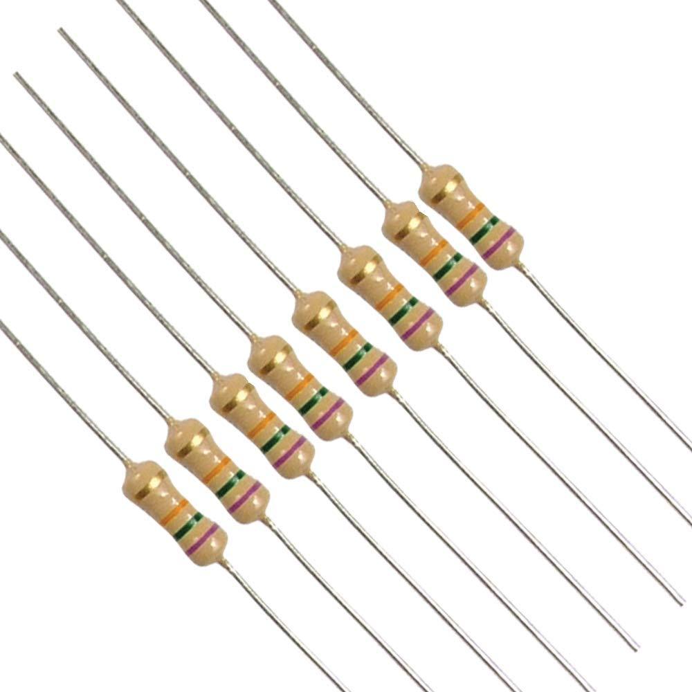 0.25 w Film carbono resistor 2k2 paquete De 50 2.2 k