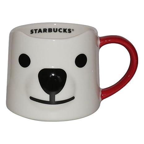 Starbucks Christmas Coffee Mugs.Amazon Com Starbucks Cup Mug Christmas Bear Face 10 Fl