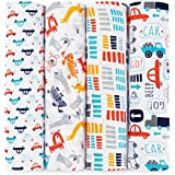 aden + anais Zutano Swaddle Baby Blanket, 100% Cotton Muslin, Large 47 X 47 inch, 4 Pack, Pup In Tow