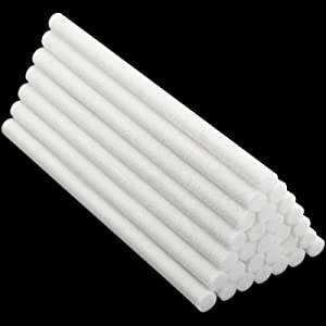 40 Pieces Humidifier Sticks Cotton Filter Refill Sticks Wicks Replacement for Portable Personal USB Powered Humidifiers in Office and Bedroom (5.3 Inch)