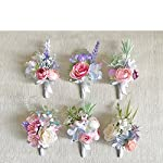 Yokoke-Artificial-Succulent-Boutonniere-Bouquet-Corsage-Wristlet-Vintage-Silk-Fake-Pink-Rose-Peony-Unicorn-Color-Flowers-Flocked-Plants-For-Groom-Bride-Wedding-Decor-1-Pc