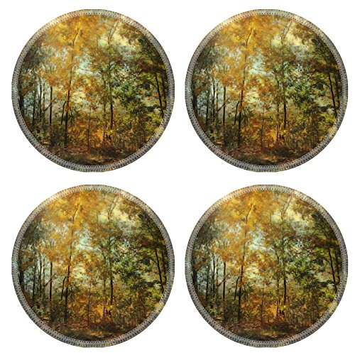 MSD Round Coasters The goldenrod is yellow The corn is turning brown The trees in apple orchards With fruit are bending down Helen Hunt Jackson Natural Rubber Material Image 15486210491