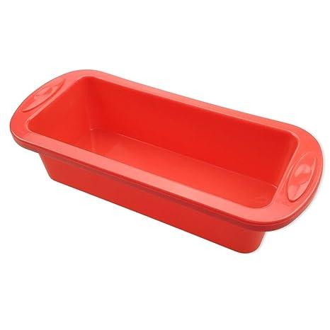 HelpCuisine Molde silicone-Molde Tarta, Molde de silicona para Tartas, Bandeja rectangular para