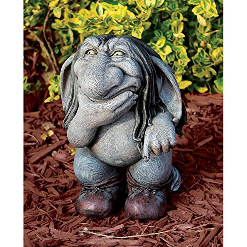 Garden Gnome Statue -Pondering Sylvester the Cynical Gnome Troll – Lawn Gnome Review