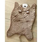 Levtex Baby Soft Brown Faux Fur Bear Throw Blanket