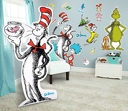 (BirthdayExpress Dr Seuss Room Decorations Giant Wall Decals and Standup)