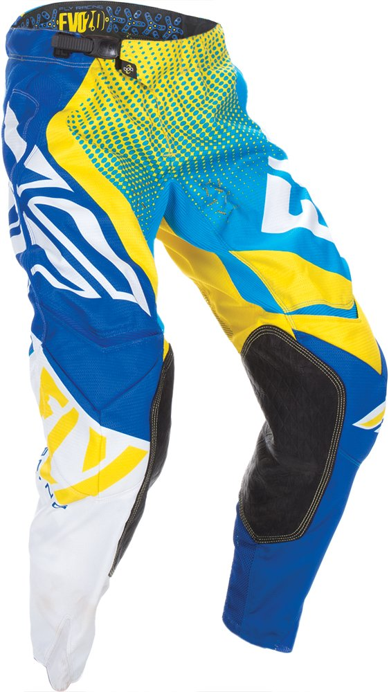 Fly Racing Unisex-Adult Evolution 2.0 Pants (Blue/Yellow/White, Size 30)