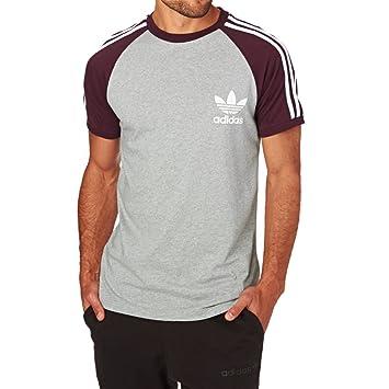 adidas Es CLF Camiseta, Hombre, Gris/Burdeos, S: Amazon.es: Deportes y aire libre