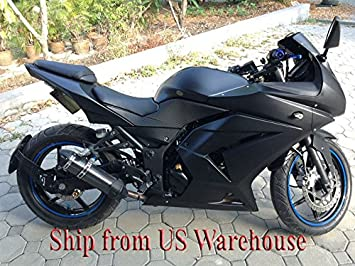 USA Matte Black Complete Injection Fairing for 2008-2012 Kawasaki Ninja 250R EX250