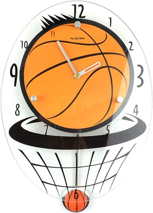XCXDX Reloj Creativo De Silencio De Baloncesto, Decoración De ...