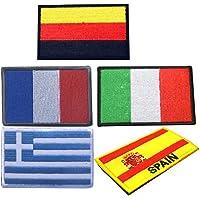 BESPORTBLE 5 Piezas Parches de Bandera Nacional Parches