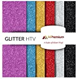 MiPremium Glitter Heat Transfer Vinyl, HTV Iron On Vinyl Sheets of 6 Most ...