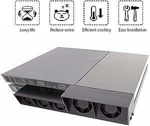 QUMOX PS4 External Super Cooling Fan - Turbo Cooler Black for Playstation 4